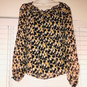 AB Studio yellow/black blouse